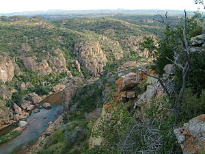 Makuleke - A westward view of Lanner Gorge in the Makuleke