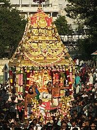 Malayappa in swarnarathotsavam