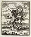 Man carrying load is stalked by death, as a skeleton, 1764 Wellcome L0037503.jpg