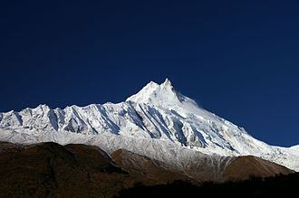 Manaslu from base camp Manaslu, from base camp trip.jpg