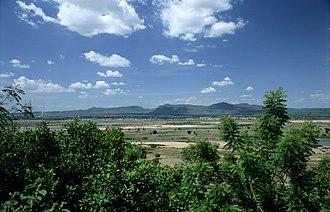 Mandara Mountains - The Mandara Mountains looking north-east from Jimeta/Yola.