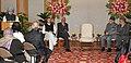 Manmohan Singh addressing at the release of the commemorative coins for Silver Jubilee of Mata Vasishno Devi Shrine Board, in New Delhi. The Governor of Jammu and Kashmir, Shri N.N. Vohra.jpg
