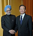 Manmohan Singh at a bilateral meeting with the Premier of the State Council of People's Republic of China, Mr. Wen Jiabao, on the sidelines of the 17th ASEAN Summit and Related Summits to be held in Hanoi, Vietnam.jpg