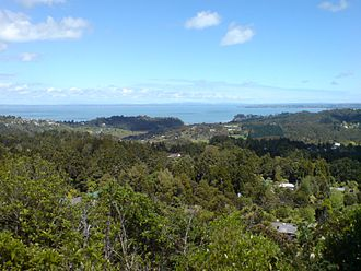 Scenic Drive, Auckland - A view over the Manukau Harbour from Scenic Drive.