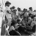Manzanar Relocation Center, Manzanar, California. Evacuees of Japanese ancestry are enjoying a base . . . - NARA - 538070.tif
