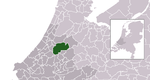 Location of Alphen aan den Rijn