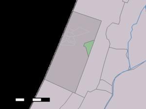 Bentveld - Image: Map NL Zandvoort Bentveld