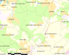 Map commune FR insee code 95566.png