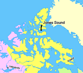 Map indicating Jones Sound, Nunavut, Canada.png