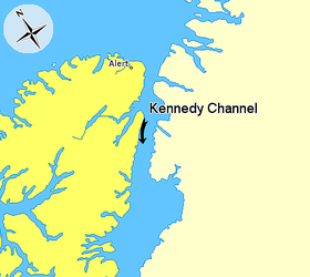 Map indicating Kennedy Channel, Nunavut, Canada.png