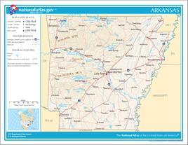 Karte von Arkansas