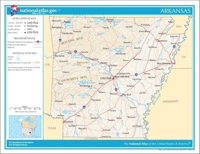 TemplateLocation Map USA Arkansas Wikipedia - Arkansas in usa map