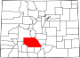 Map of Colorado highlighting Saguache County.svg