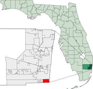 Map of Florida highlighting Hallandale.png