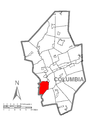Map of Franklin Township, Columbia County, Pennsylvania Highlighted.png