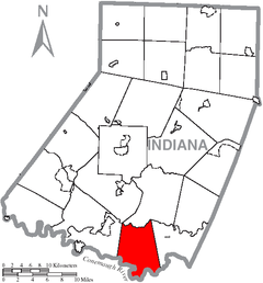 Map of Indiana County, Pennsylvania Highlighting West Whitfield Township.PNG