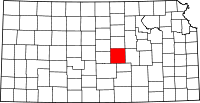 Map of Kansas highlighting McPherson County