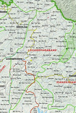 Map of Luang Prabang Province