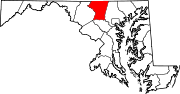 Map of Maryland highlighting Carroll County.svg