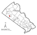 Map of Sellersville, Bucks County, Pennsylvania Highlighted.png