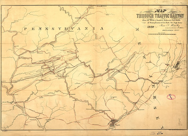 File Map Of Through Traffic Railway From The Middle  U0026 Southern Anthracite Coal Fields Of