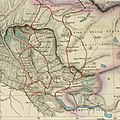 Map of Tibet and Pangong Lake in 1873 from Hindutagh-pass-aksai-chin-center2-1873 (cropped).jpg