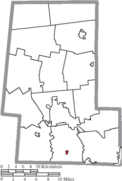 Location of Unionville Center in Union County