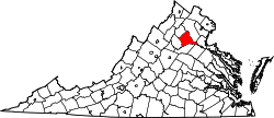 Map of Virginia highlighting Culpeper County.svg