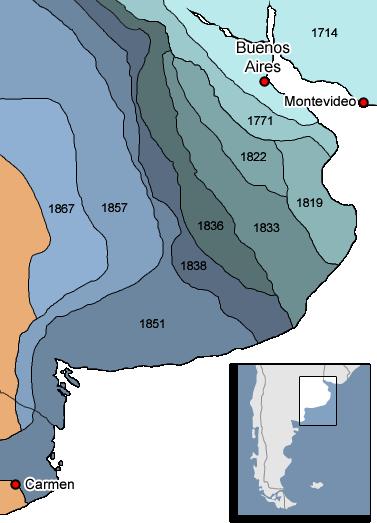 Mapa ARGENTINA frontera