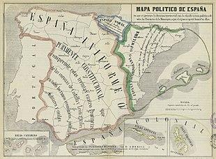 Cartina Politica Spagna Con Capoluoghi.Comunita Autonome Della Spagna Wikipedia