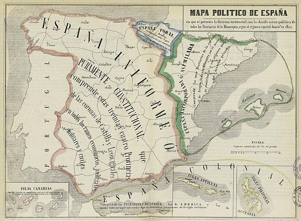 Regioni Della Spagna Cartina.Comunita Autonome Della Spagna Wikiwand