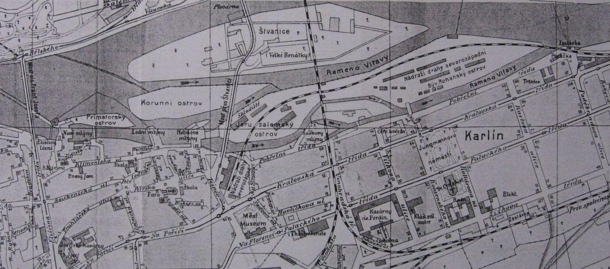 File Mapa Vltavy U Karlina Kolem 1910 Jpg Wikimedia Commons