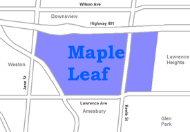 Position of Maple Leaf