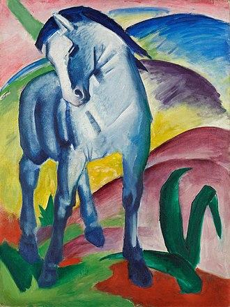 Der Blaue Reiter - Franz Marc, Blue Horse I, 1911