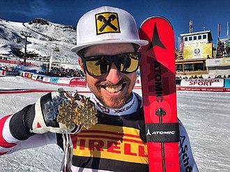 Marcel Hirscher - Hirscher in February 2017 (FIS Alpine World Ski Championships 2017).