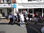 Marching band in Cowes High Street during Cowes Week 2011.JPG