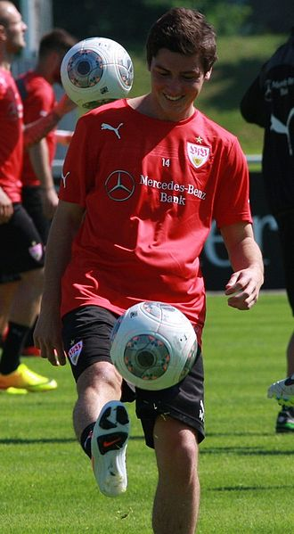 Marco Rojas - Marco Rojas training in 2014.