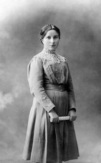 Maria Valtorta - At age 15, 1912.
