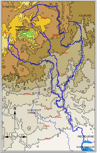 Jackson Creek (Victoria) - Image: Maribyrnongrivermap 2