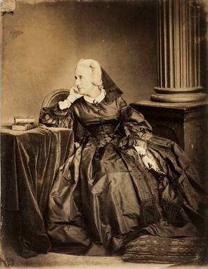 Marie d'Agoult - d'Agoult in 1861. Photo by Adam-Salomon.