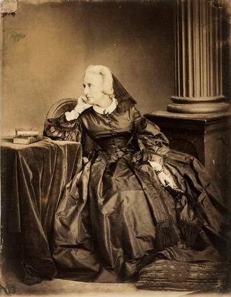 Marie d'Agoult - d'Agoult in 1861. Photo by Adam-Salomon.