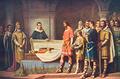 Martim de Freitas verificando na catedral de Toledo o falecimento do rei D. Sancho II.png
