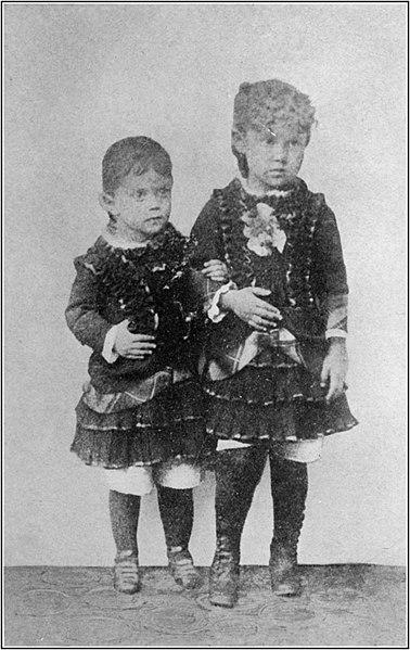 Mary Antin & sister Fetchke as infant children