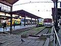 Masarykovo nádraží, motoráky KŽC, Arriva a ČD.jpg