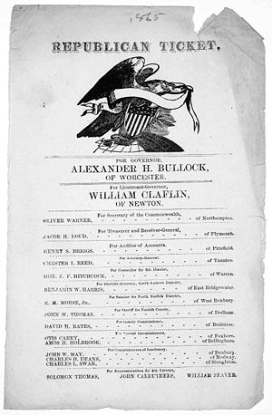 Alexander Bullock - The Republican ticket for 1865