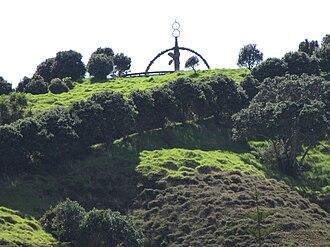 Rainbow Warrior (1955) - Memorial to Rainbow Warrior at Matauri Bay, Northland