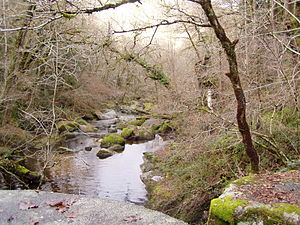 Saint-Martin-Château - The Maulde river, at the foot of the Jarrauds waterfall