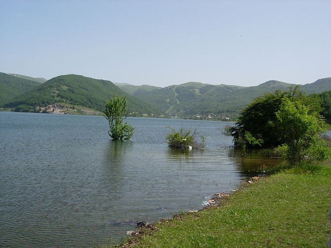 Artificial Mavrovo Lake in the Republic of Mac...