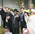 Max Kaur and religious leaders, protest against gambling, Estonia, Tallinn, 2007.jpg