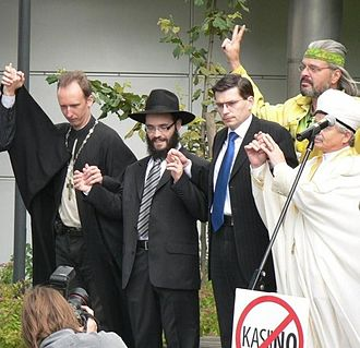 Max Kaur and religious leaders, protest against gambling, Tallinn, Estonia Max Kaur and religious leaders, protest against gambling, Estonia, Tallinn, 2007.jpg